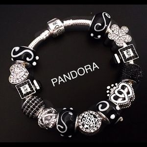 Pandora 925 ALE Black and Silver bracelet